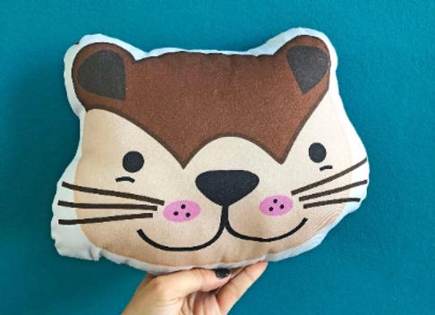 Otter Plush Scatter Cushion