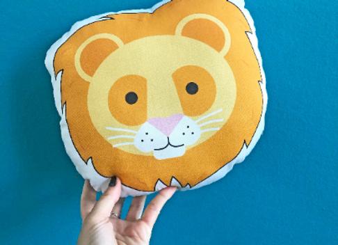 Lion Plush Scatter Cushion