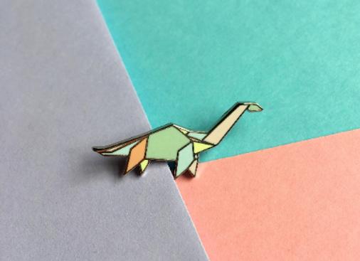 Apatosaurus Enamel Pin Badge
