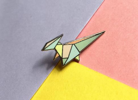 Parasaurolophus Enamel Pin Badge