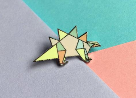 Stegosaurus Enamel Pin Badge