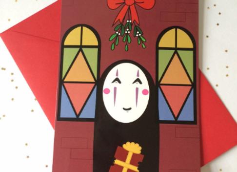 No Face Spirited Away Christmas Card