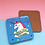 Thumbnail: Bitch I'm Fabulous Unicorn Coaster