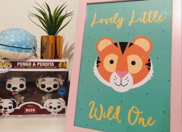 Lovely Little Wild One Tiger Print A4/A5