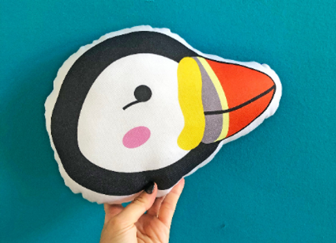 Puffin Plush Scatter Cushion