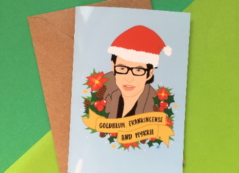 Goldblum, Frankincense and Myrrh Christmas Card