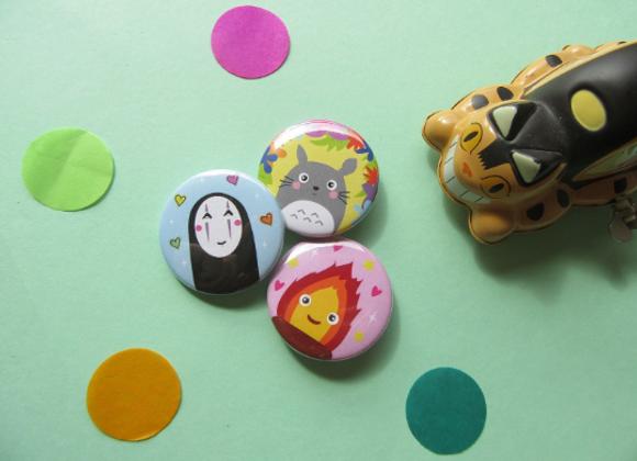 Ghibli 38mm Pin Badges Pack of 3
