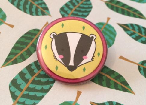 Badger Wildlife Pin Badges - 38mm