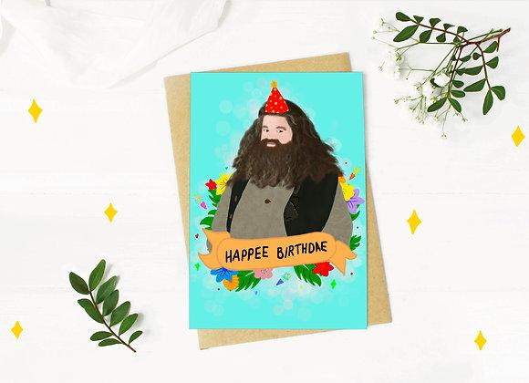 Happee Birthdae - Hagrid Birthday Card