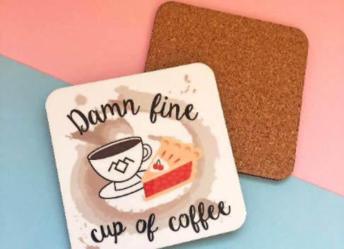 Damn Fine Cup of Coffee Twin Peaks Inspired Coaster