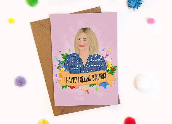 Happy Forking Birthday Eleanor Shellstrop Card