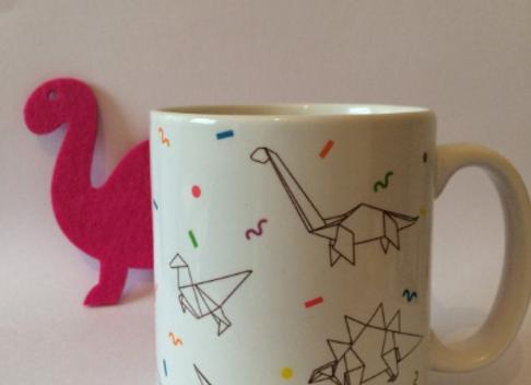 Dinosaur Origami 11oz Mug