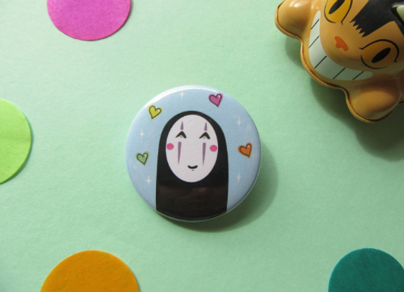 No Face Ghibli Pin Badge 38mm
