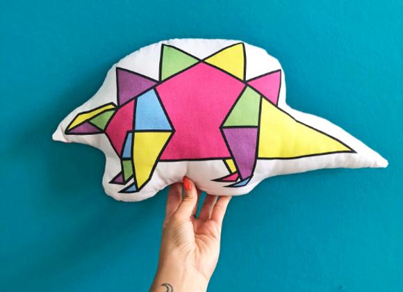 Stegosaurus Origami - Dinogami Plush Scatter Cushion