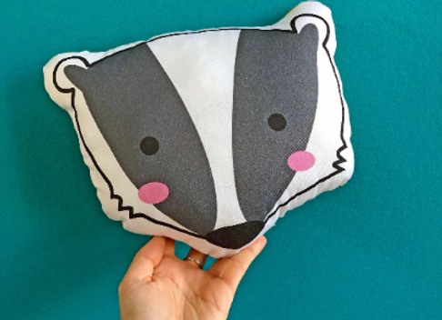 Badger Plush Scatter Cushion