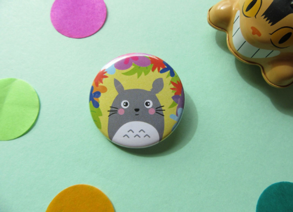 Totoro Ghibli Pin Badge 38mm