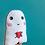 Thumbnail: Sensitive Soul Ghost Heart - Plush Scatter Cushion