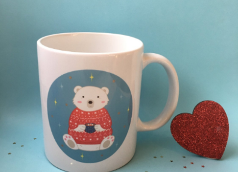 Winter Polar Bear 11oz Mug