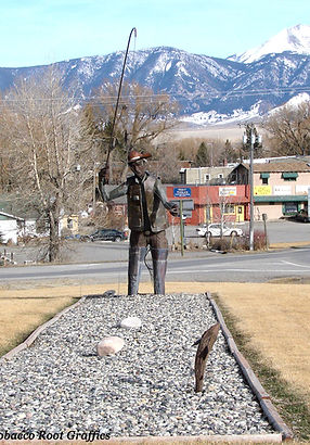 Fly Fishing Sculpture - Ennis, Montana