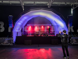New Covered Outdoor Stage