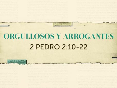 ORGULLOSOS Y ARROGANTES