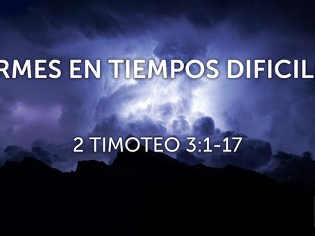 FIRMES EN TIEMPOS DIFÍCILES