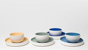 marion leyssene ceramique bols et assiettes en porcelaine couleurs
