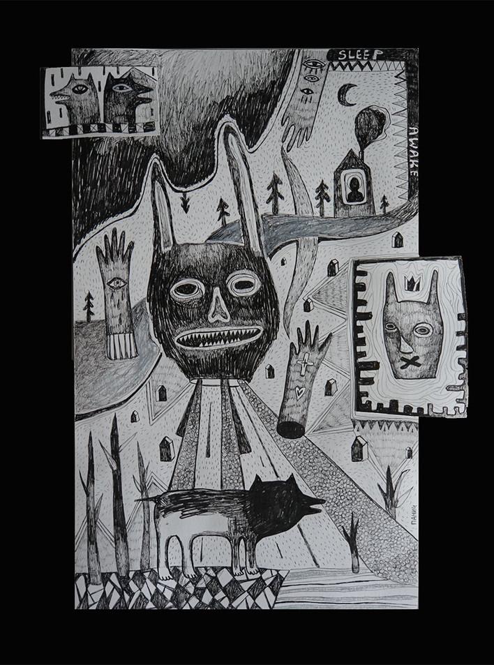 Inside the dark corner of one's head