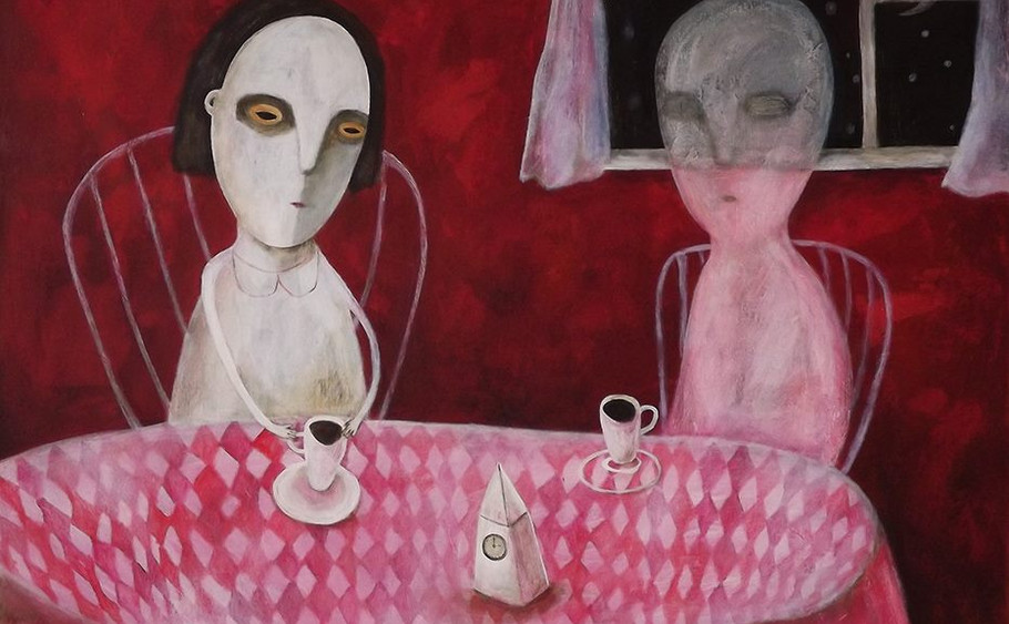 Tea party with a ghost