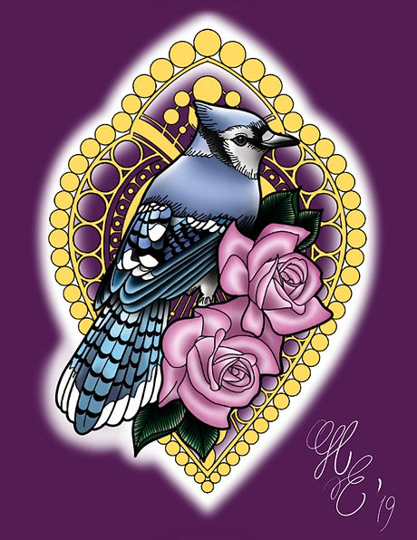 Blue Jay with Roses.jpg
