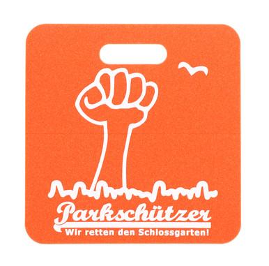 Werbesitzkissen Parkschützer Stuttgart 21