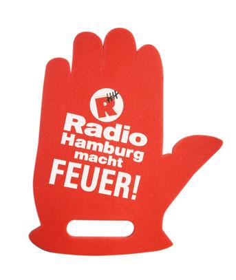 Werbesitzkissen Winkehand Radio Hamburg