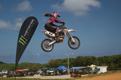 #12 Yuna Song placed 1st in the 150 class and then took a second overall in the Minibike class Sunda