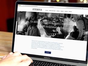 Redesign av webb för Eterna