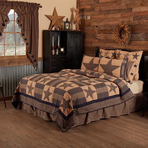 VHC Teton Star King Quilt 105Wx95L + 2 King Pillow Shams