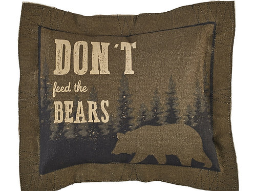 Don't Feed The Bears Pillow- Button Off