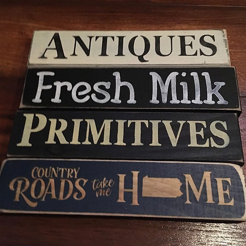"""8"""" Wood Signs Made in USA"""