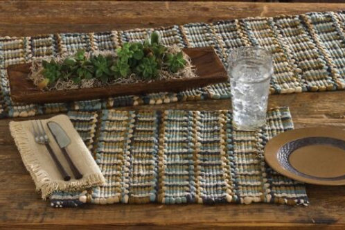 Tempest Chindi by Park Designs - Kitchen Dining Blue Brown Tan