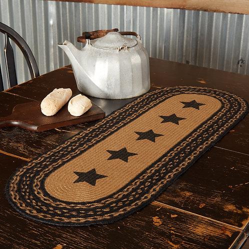 VHC Farmhouse Jute Runner Stencil Stars