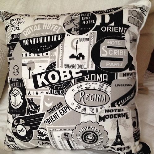 Large Black & White Nostalgia Pillow