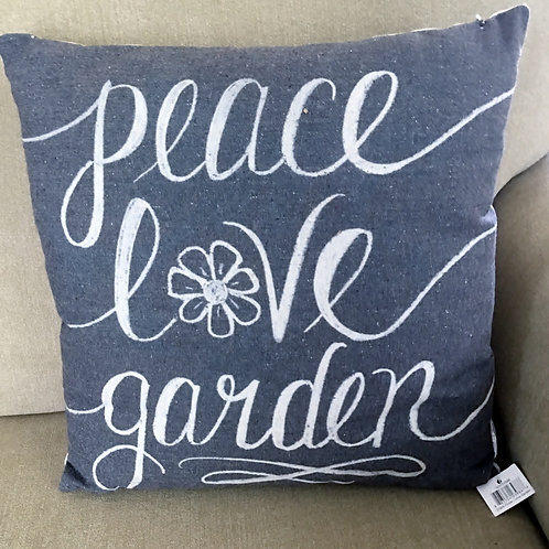 Country Primitives by Kathy Peace Love Garden Pillow