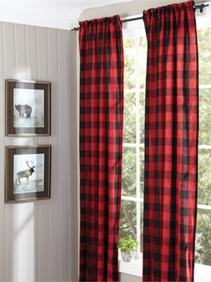 PARK DESIGNS Buffalo Check Lined Panel Pairs