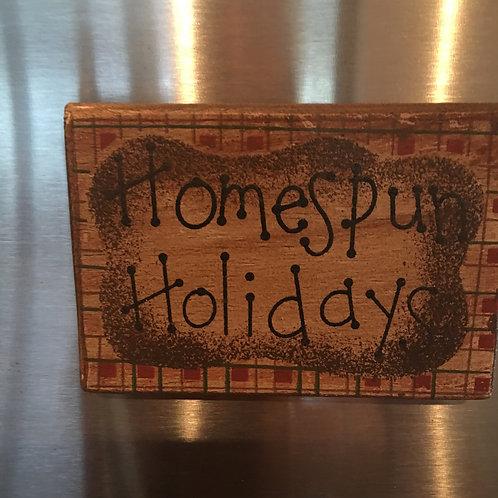 Christmas Magnet- Homespun Holidays