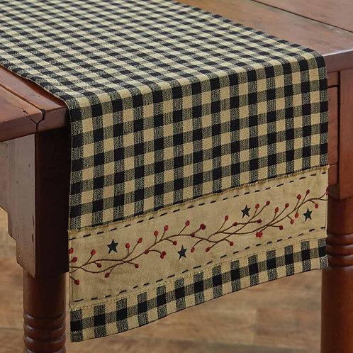 "Park Designs BERRY GINGHAM TABLE RUNNER - 36""L"