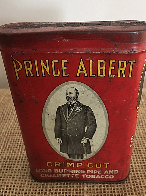 Antique Vintage Prince Albert Tobacco Can