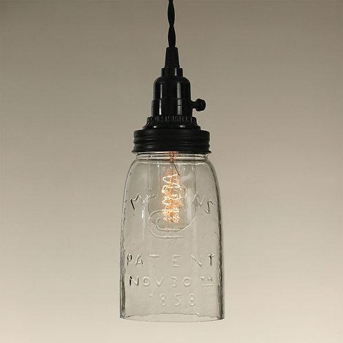 CTW Quart Open Bottom Mason Jar Pendant Lamp