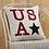 Thumbnail: PATRIOTIC USA APPLIQUE PILLOW 18 X 18