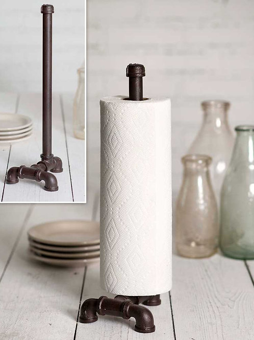 Farmhouse Rustic Industrial Tabletop Paper Towel Holder