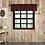 Thumbnail: Rustic Cabin Lodge Red CUMBERLAND VALANCE CURTAIN