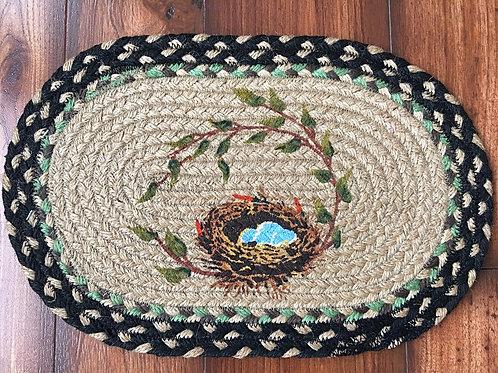 """Earth Rug Table Accent 15""""x 10"""" Bird Nest"""